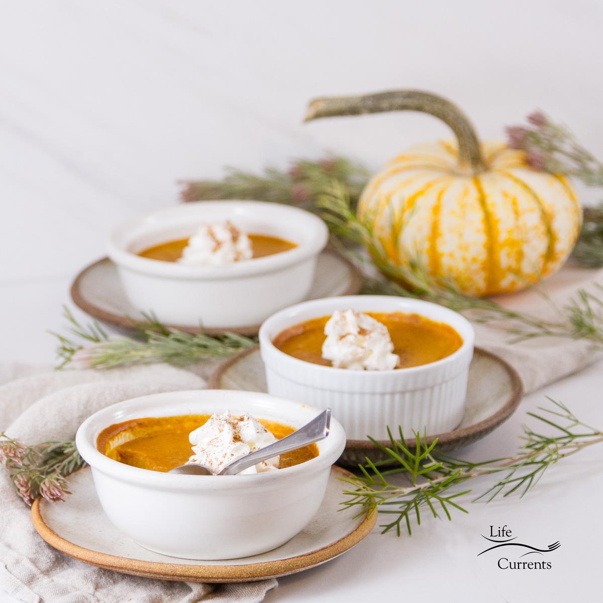Pumpkin Custards - Holiday Dessert Recipe - Life Currents