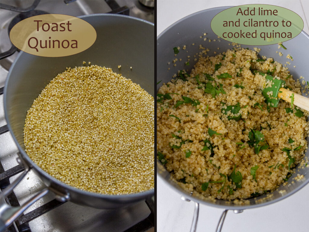 how to make cilantro lime quinoa.