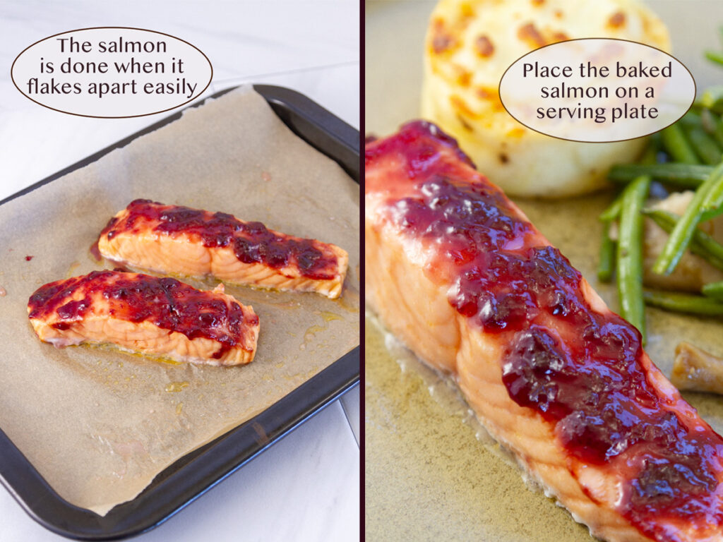 process of how to make roasted salmon.