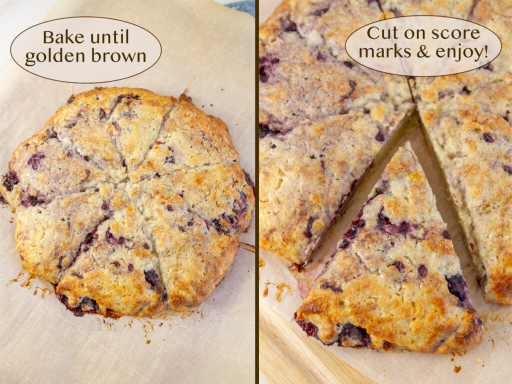 how to make scones: bake the dough.