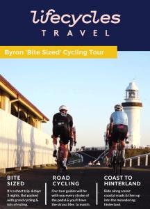 Byron 'Bite Sized' Cycling Tour itinerary