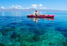 Kayaking in the Sea of Cortez Baja California Sur, Mexico