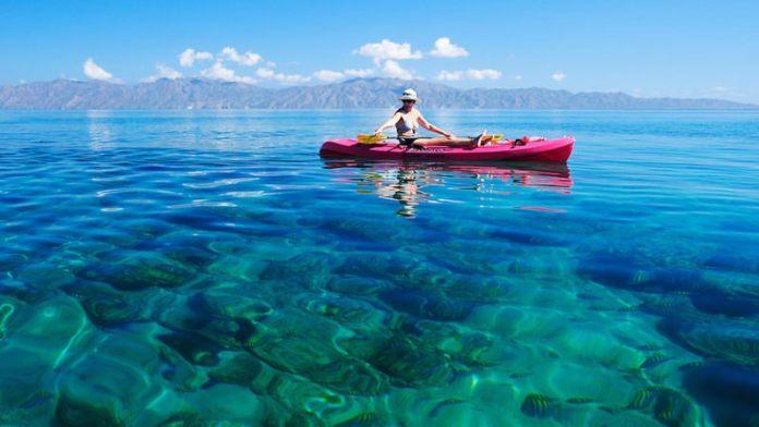 Kayaking in the Sea of Cortez Baja California Sur, Mexico