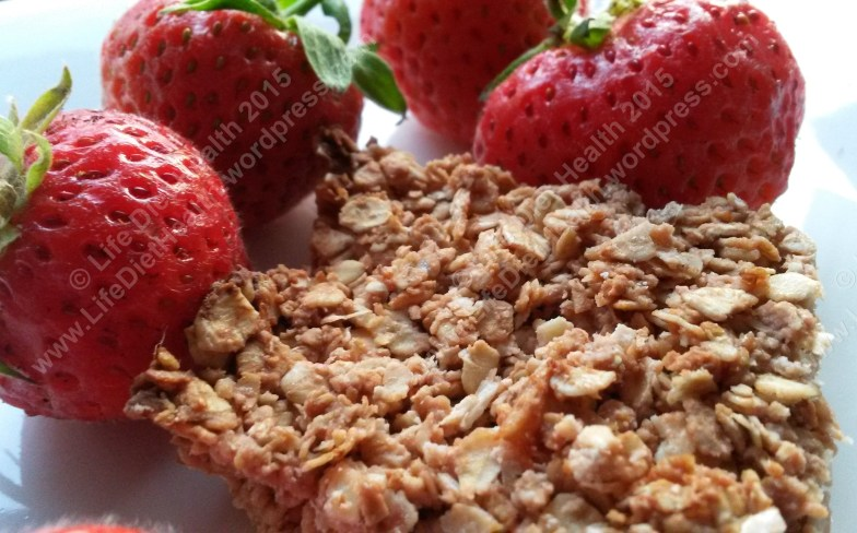 Fresh strawberries and coconut oat bake :)