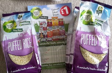 Bargain priced puffed rice (3 bags)! :D