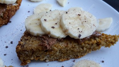 Almond butter & banana topped loaf
