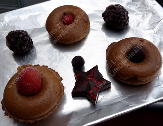 Donuts, berries and chocolate stars!