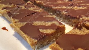 Thick caramel slice