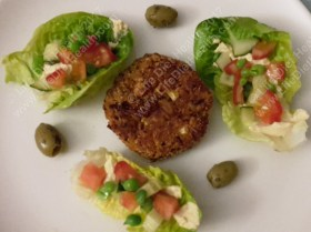 Burgers and lettuce boats