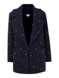Hoss Intropia Long Sleeve Coat With Beaded Detail £515 HOF