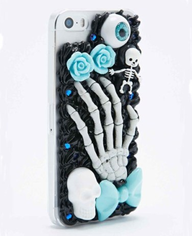 Skeleton phone case, £28, Urban Outfitters