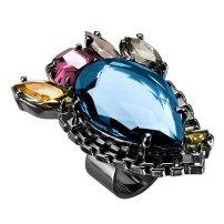Teardrop Crystal Ring, £225, Mawi