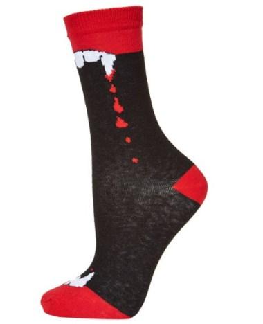 Vampire Fang Socks, £3.50, Topshop