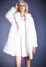 Faux fur oversized coat, £90