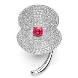 Sterling silver and ruby poppy £99 Bouton (£25 donation to Royal British Legion)