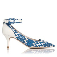 Silvana Patent and Canvas Ankle Strap Shoe £245