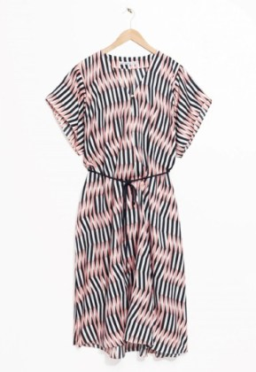 Graphic wave kaftan dress, £65, & Other Stories