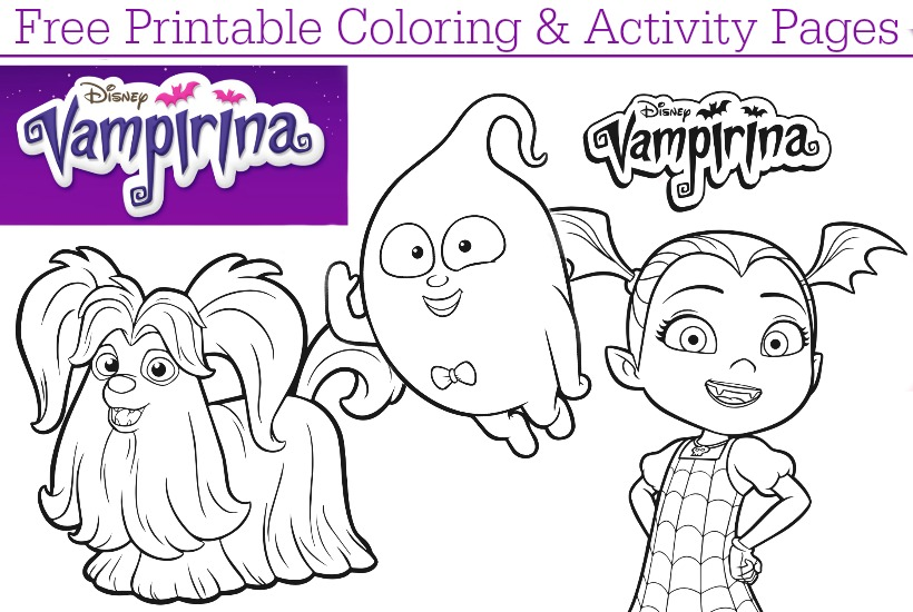 Disney Junior Vampirina Free Printable Coloring Pages Dvd Giveaway