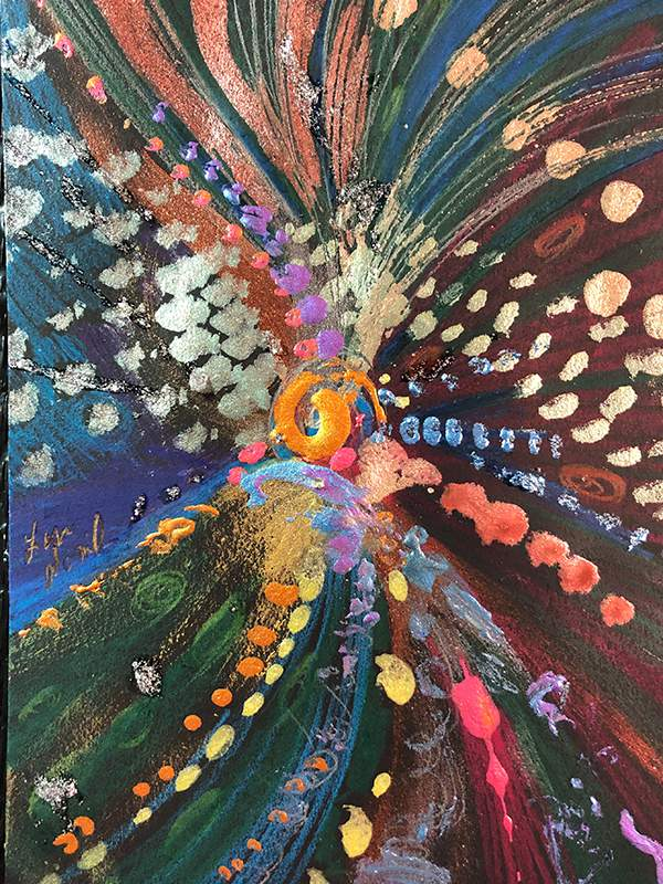 """Intuitive Abstract """"Soul Vision Aura Portraits"""" by Lisa Nomikos"""