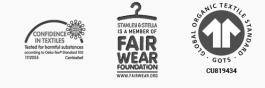 Fair wear certified t-shirts