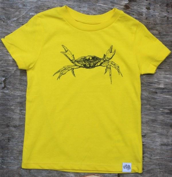 Children's shore crab T-shirt - yellow