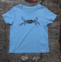 children's shore crab t-shirt - baby blue