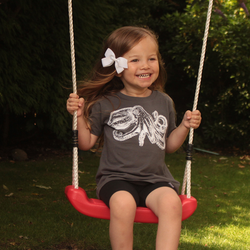 Childrens Organic cotton curled octopus T-shirt