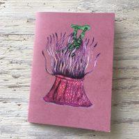 Strawberry anemone pocket notebook