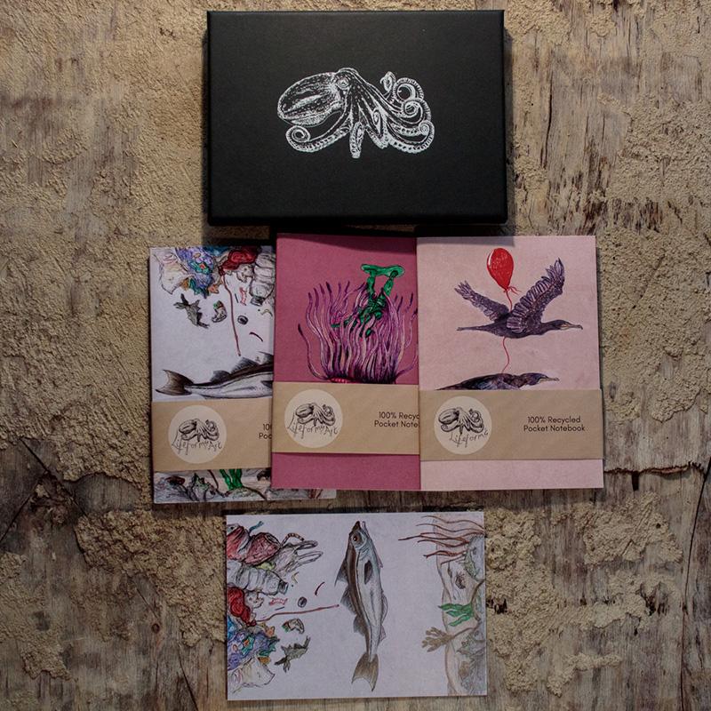 plastic pollution pocket notebook gift box