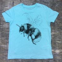 childrens bumblebee t-shirt Caribbean blue