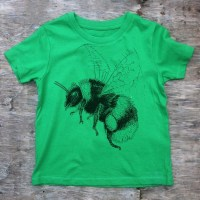 childrens bumblebee t-shirt green