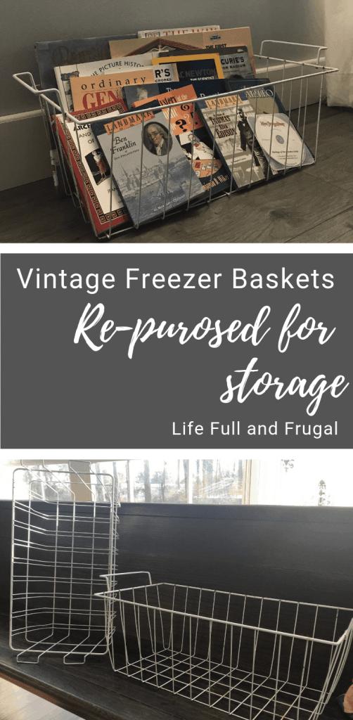 Vintage Freezer Baskets/Life Full and Frugal