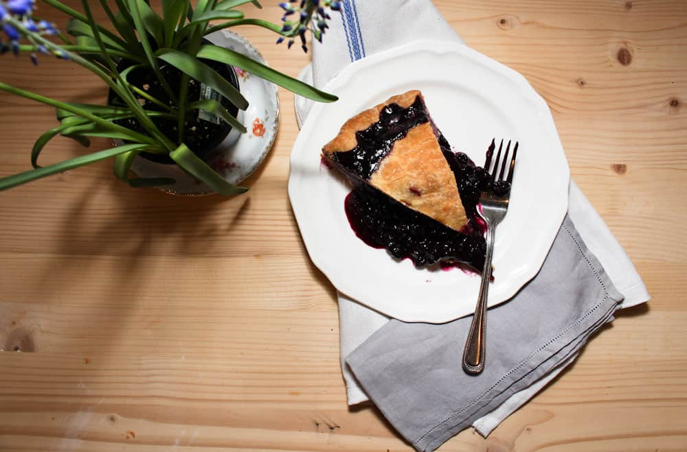 a blueberry pie recipe with a bonus rustic jam filled tart with sour cream Life Full and Frugal