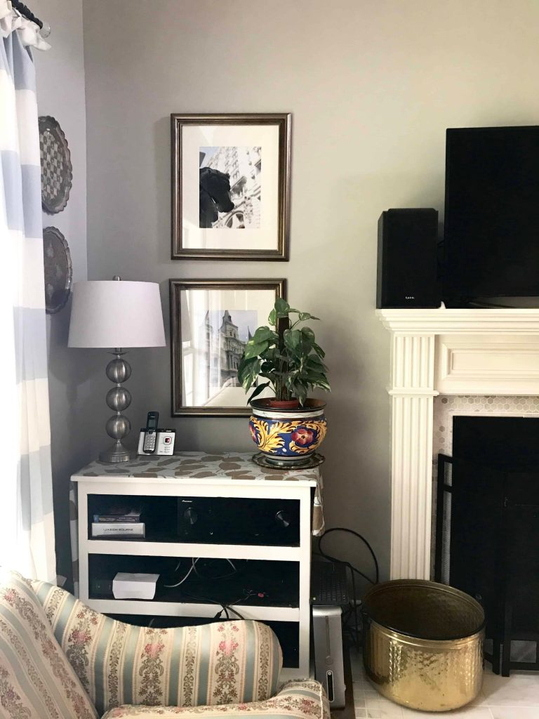 1980s china cabinet makeover living room