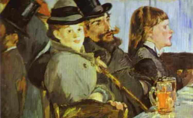 В кафе 1878г Oskar Reinhart Foundation, Winterthur, Switzerland, Эдуард Мане