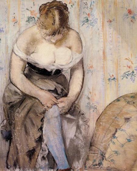 Женщина поправляет подвязку 1878 Эдуард Мане