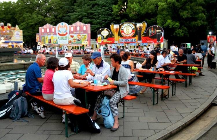токио октоберфест пиво парк Хибия