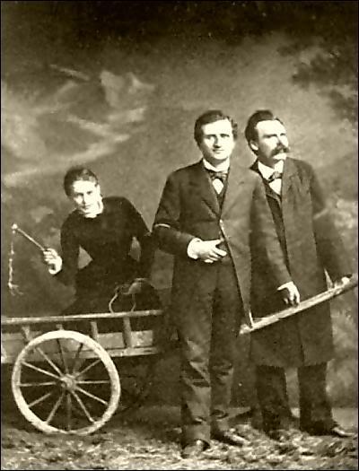 Фото Лу Саломе, Ницше, Ре в повозке
