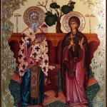 Фишки дня — 2 октября, Священномученика Киприана и мученицы Иустины, икона, религия, православие, православный календарь
