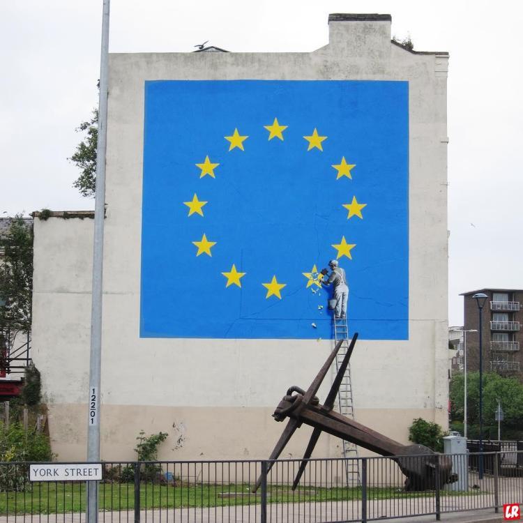 Бэнкси, Брексит, граффити, современное искусство, художник