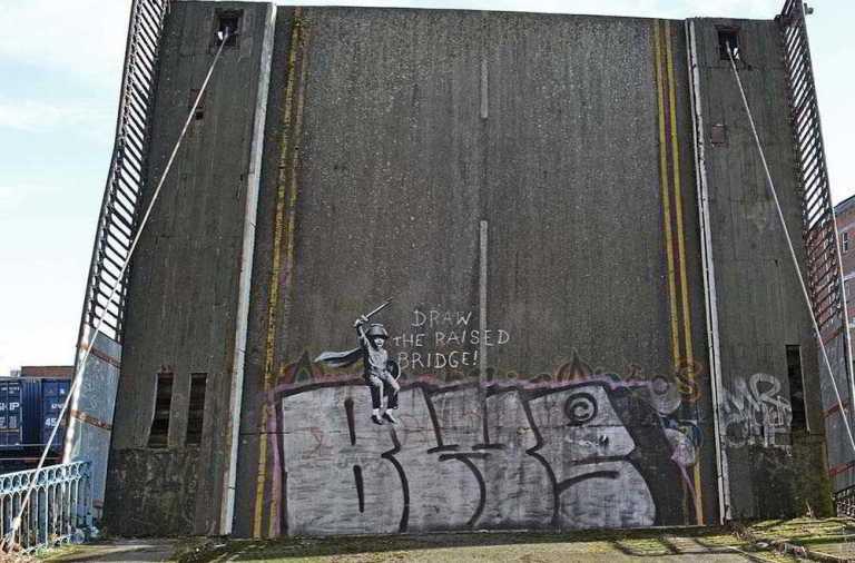 бэнкси, граффити, худодник
