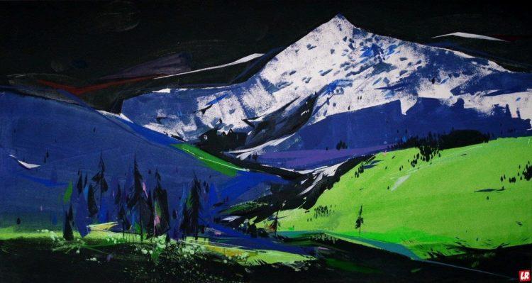 Лилия Студницкая, искусство, арт, художник, выставка, ночь, галерее Лавра, Киев, горы