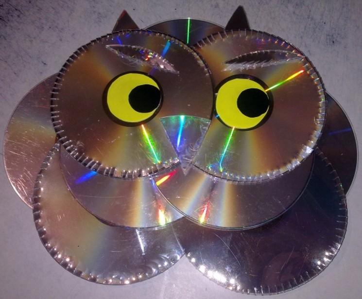 фишки дня - 2 марта, поделки из дисков