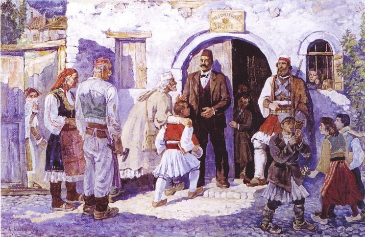 фишки дня - 7 марта, День учителя в Албании, Албания, Поградец