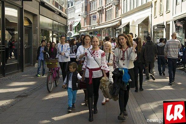 марш вышиванок Дания, украинцы в мире