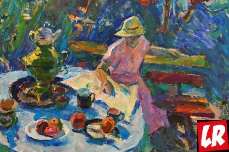 пейзаж, Василий Забашта, художник, море, живопись, Украина, жена, в саду