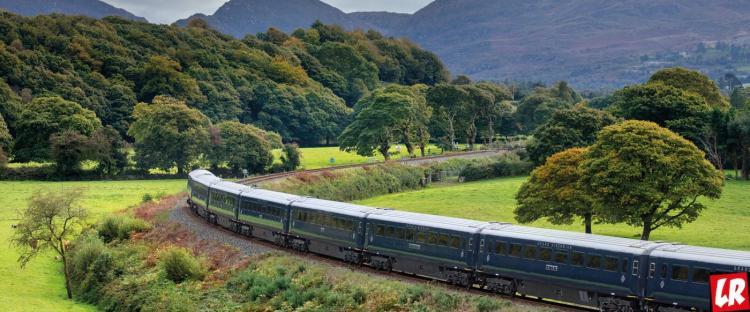 современный, Дублин, Ирландия, поезд, пейзаж, природа,