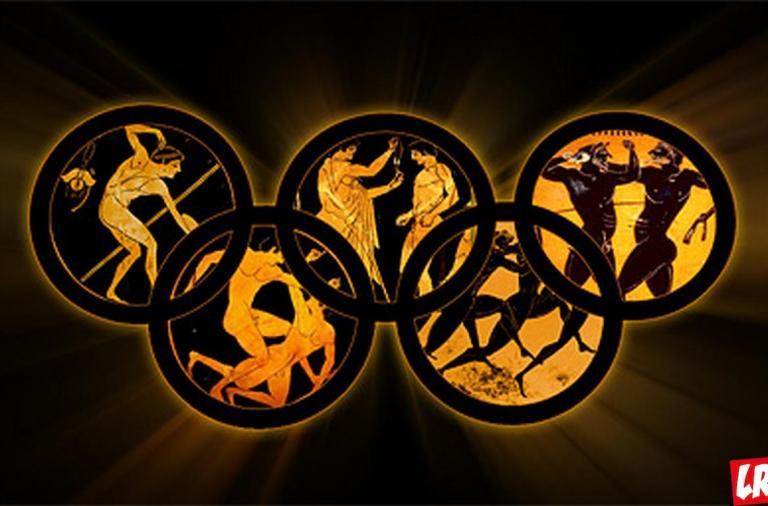 олимпиада, древняя греция, олимпийские кольца