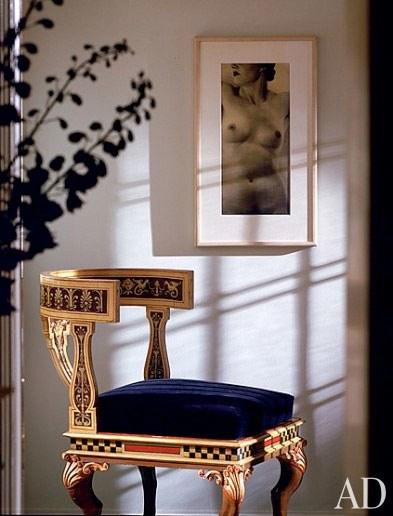 Мадонна, Нью-Йорк, квартира, кресло
