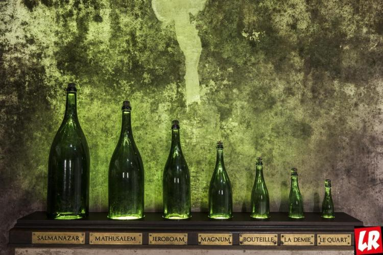 шампанское, размеры бутылок
